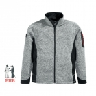 Strick-Fleece-Jacke Herren