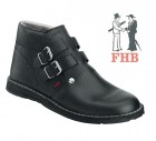 Roofer boots double buckle with lambskin